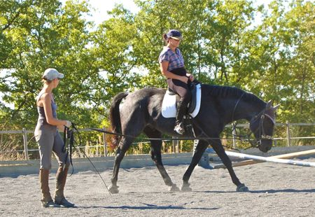 riding instruction on the lunge at Happy Horse Training