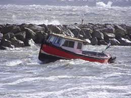 boat as metaphor for riding: rough sea